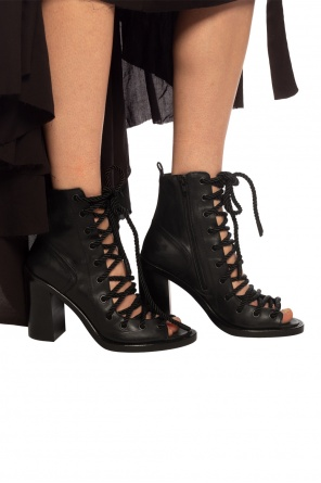 Lace-up heeled sandals od Ann Demeulemeester