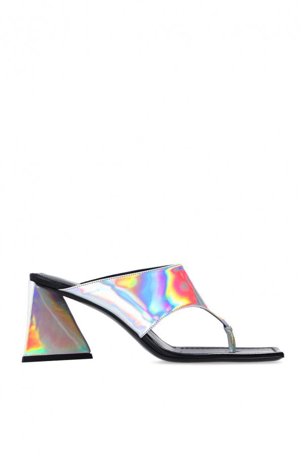 The Attico 'Devon' heeled flip-flops