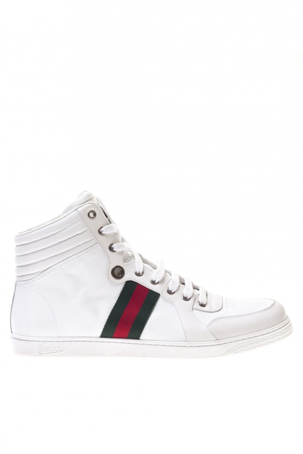 bec7fa2360d Leather High-Top Sneakers Gucci - Vitkac shop online