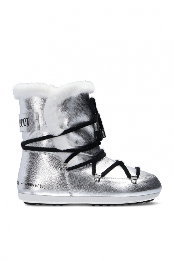 Moon Boot 'Dark Side High Saffiano' snow boots