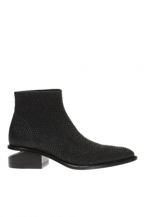 Braided 'kori sretch' heeled ankle boots od Alexander Wang