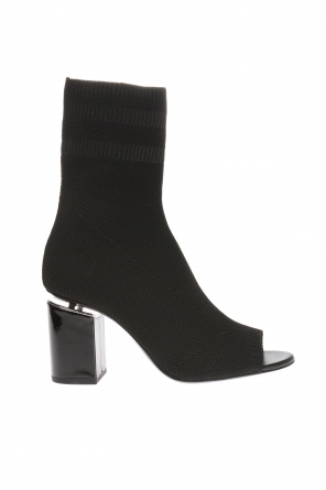 Heeled 'cat' ankle boots with sock od Alexander Wang