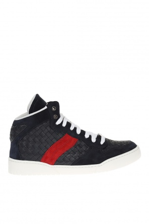 'heeze' lace-up high-top sneakers od Bottega Veneta