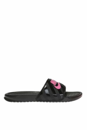'benassi jdi' slides with logo od Nike