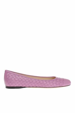 'peggy' ballet flats with 'intrecciato' pattern od Bottega Veneta