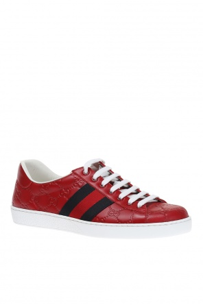 'guccissima' leather sneakers od Gucci