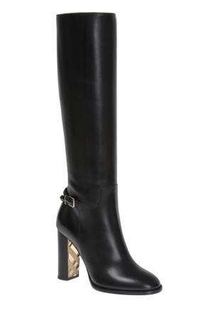 'marston' leather knee-high boots od Burberry