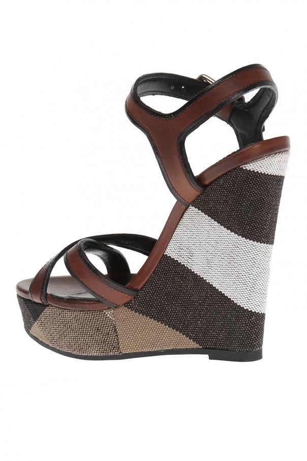 c817587792 Leather Wedge Sandals Burberry - Vitkac shop online