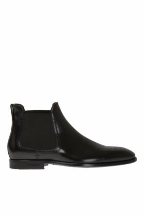 Perforated leather chelsea boots od Burberry