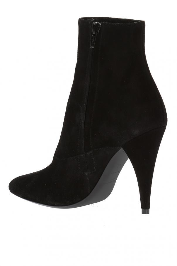 suede heel ankle boots laurent vitkac shop