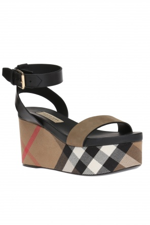 'house check' wedge sandals od Burberry