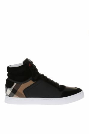 Leather high-top sneakers od Burberry