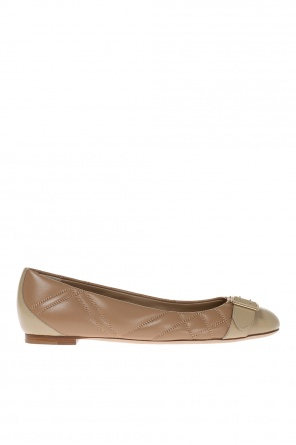 'buckle' quilted ballet flats od Burberry