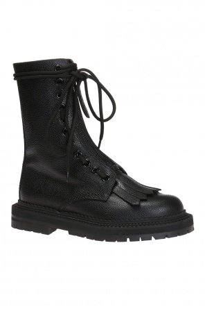 'military' lace-up boots od Burberry