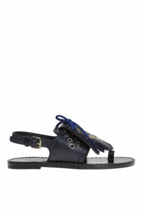 'kiltie fringe' sandals od Burberry