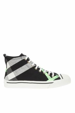 Checked high-top sneakers od Burberry