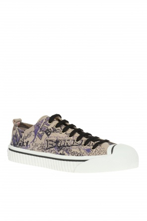 'doodle print' sneakers od Burberry