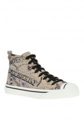 'doodle print' high-top sneakers od Burberry