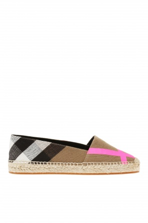 Checked espadrilles od Burberry