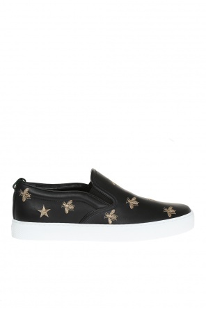 Embroidered slip-on sneakers od Gucci