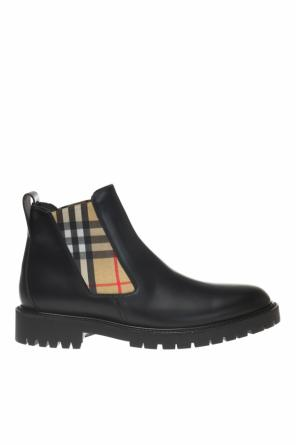 Checked chelsea boots od Burberry