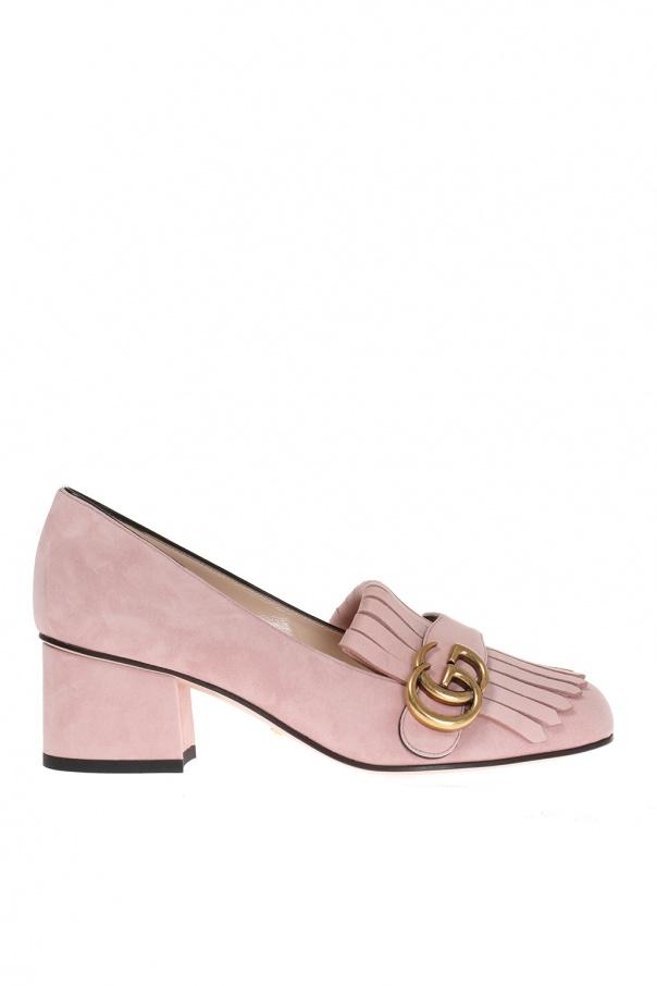 3229d0aaa4c2 Suede pumps on block heel Gucci - Vitkac shop online