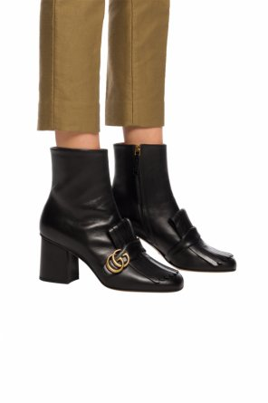 Heeled boots with logo od Gucci