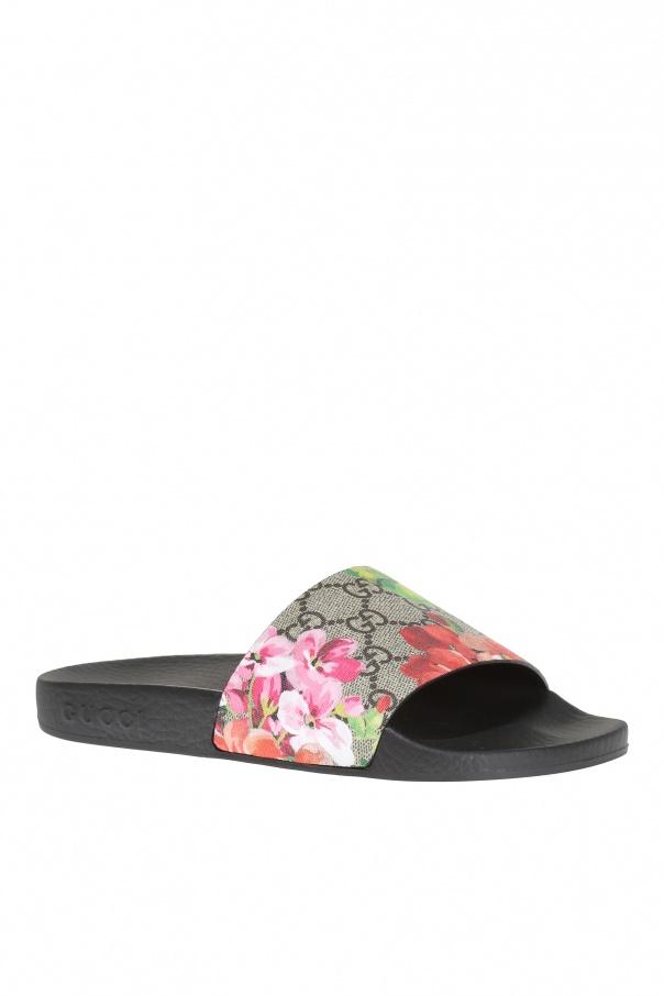 5b915ac10b4d Blooms  rubber sliders Gucci - Vitkac shop online