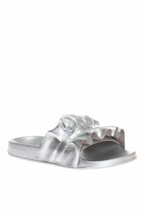 'bella' slides with ruffle od Michael Kors