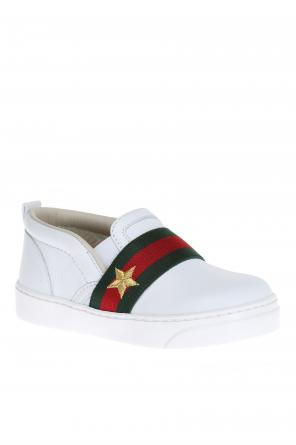 Leather slip-on sneakers od Gucci Kids