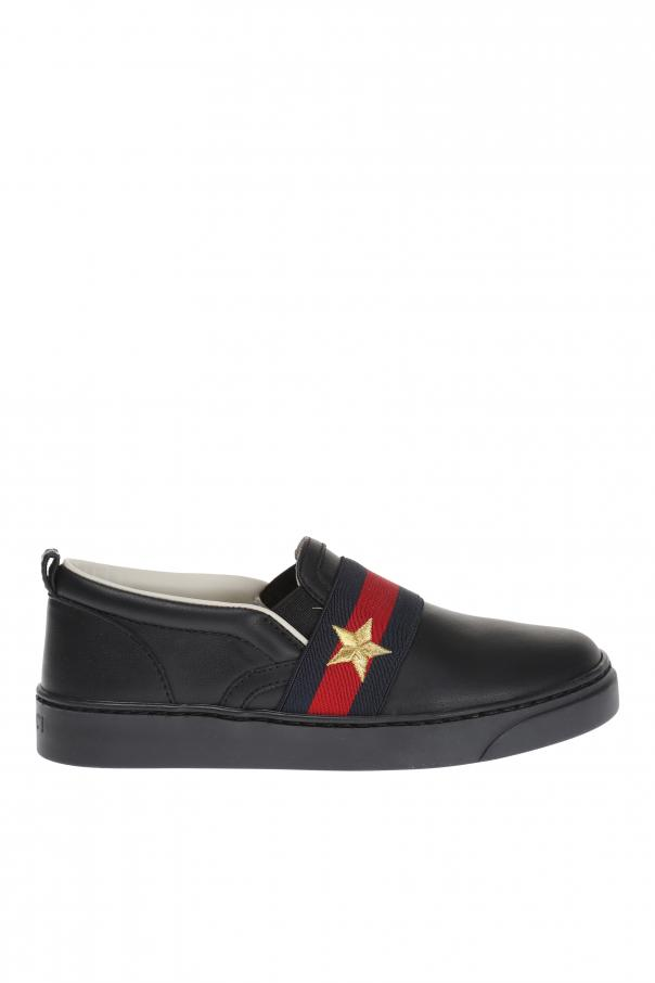 6ff4d0a7933 Leather Slip-On Sneakers Gucci Kids - Vitkac shop online