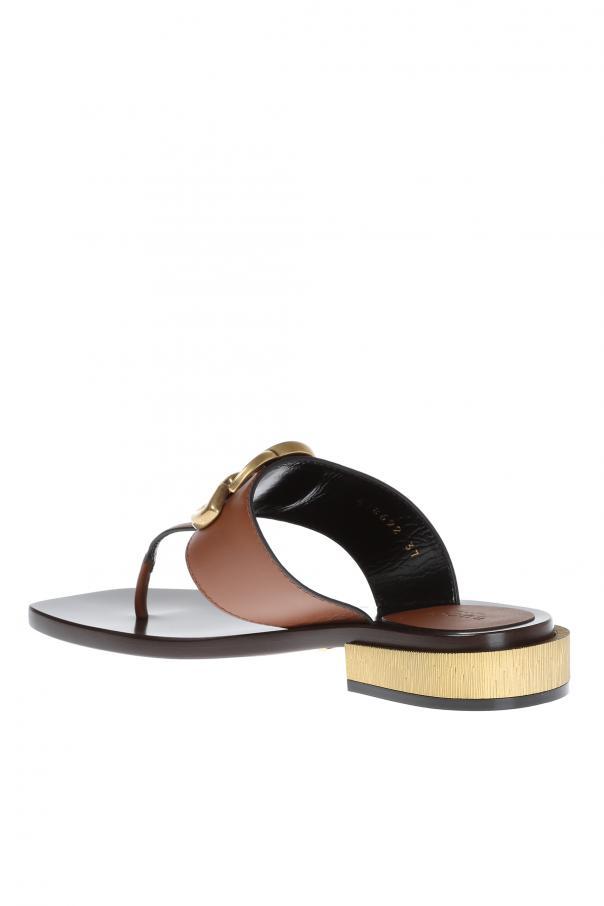 f44c584c116d Leather Flip Flops Gucci - Vitkac shop online