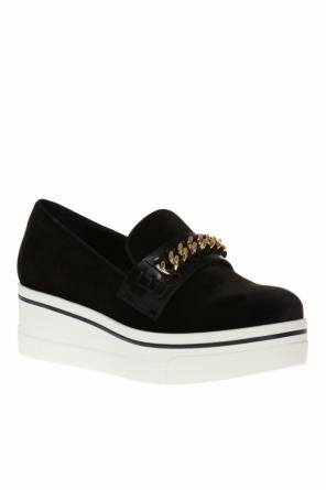Velvet platform slip-on sneakers od Stella McCartney