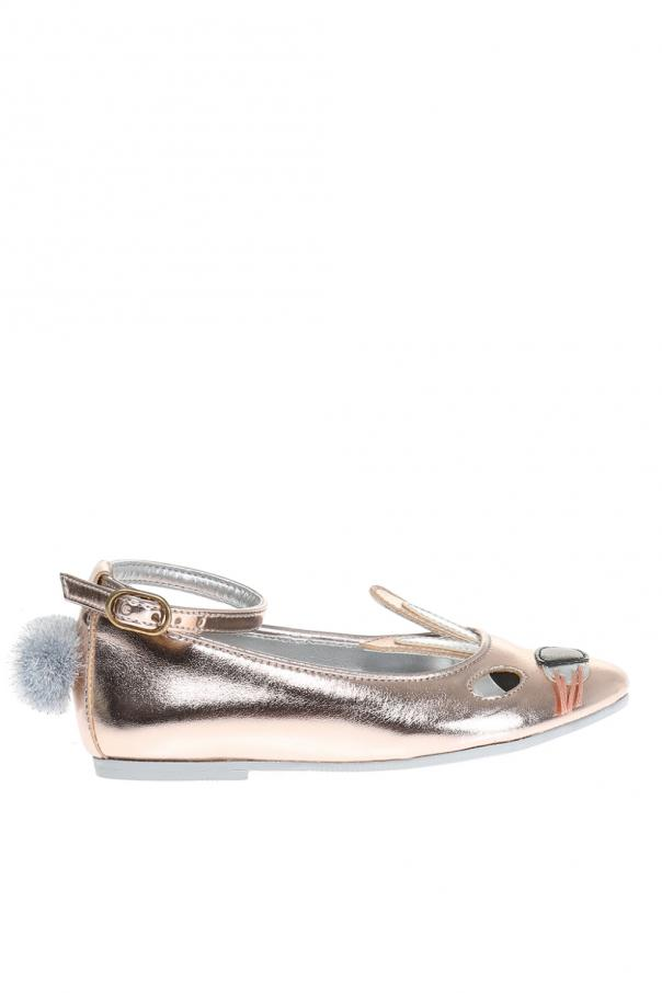 Metaliczne baleriny od Stella McCartney Kids