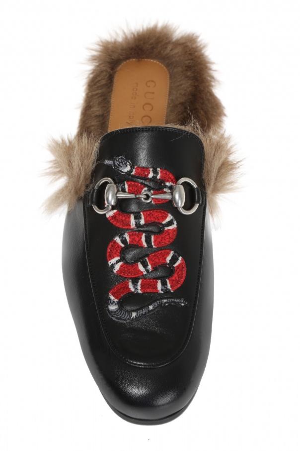 37769ab4ffd Princetown  snake applique slippers Gucci - Vitkac shop online