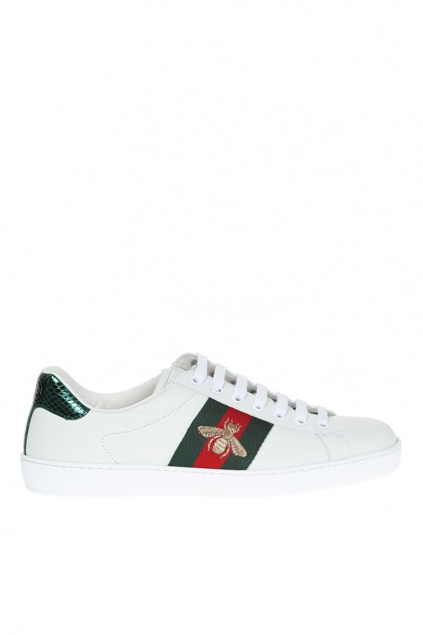zamówienie online dobrze znany naprawdę wygodne Skórzane buty sportowe Gucci - sklep internetowy Vitkac