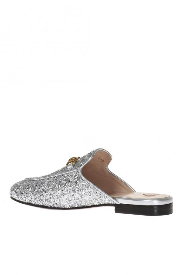 'princetown' glitter slippers od Gucci
