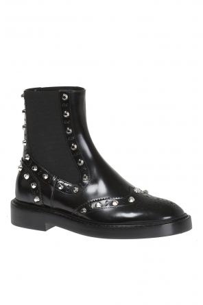 'noir' leather ankle boots od Balenciaga