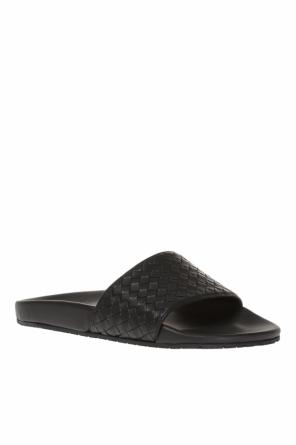 'lake' leather sliders od Bottega Veneta