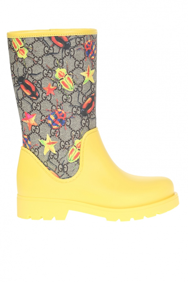 Patterned Rain Boots Gucci Kids Vitkac Shop Online Inspiration Patterned Rain Boots
