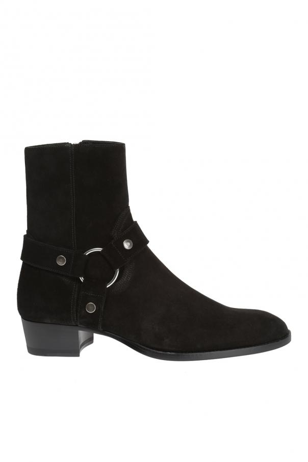 Buty za kostkę 'wyatt' od Saint Laurent Paris
