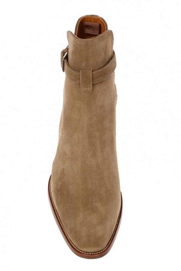 'wyatt jodhpur' suede ankle boots od Saint Laurent