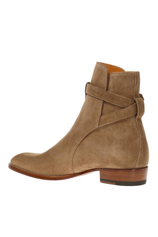 Saint Laurent 'Wyatt Jodhpur' suede ankle boots