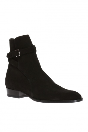 'wyatt jodhpur' suede ankle boots od Saint Laurent Paris