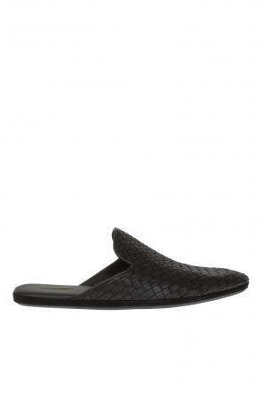 Leather sliders od Bottega Veneta
