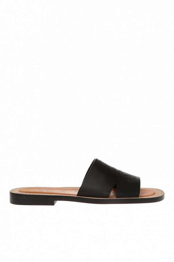Loewe Mules with perforated logo