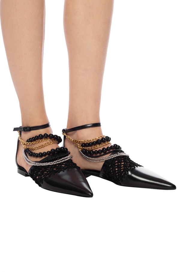 Woven shoes with cut-outs od Loewe