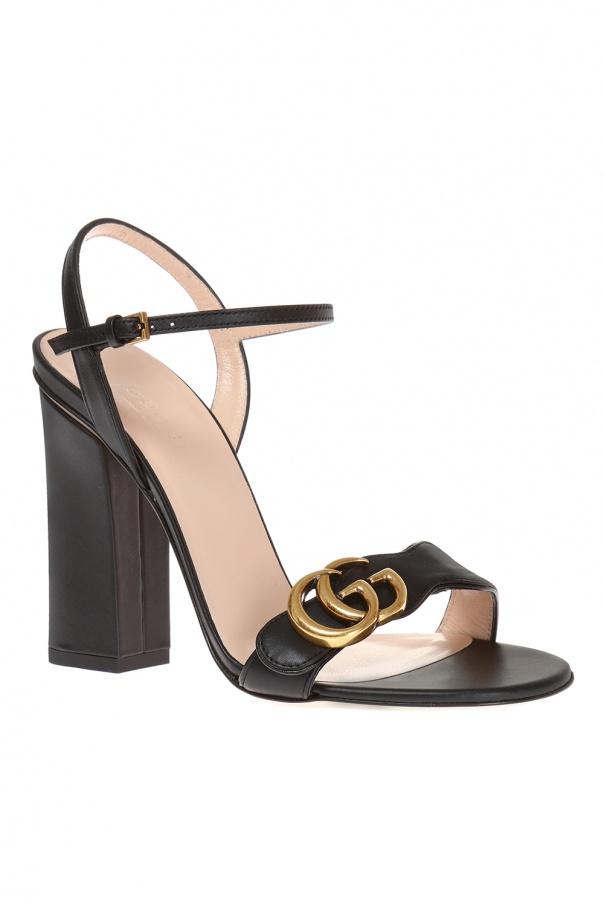 47a5cb295c80f Block heel sandals Gucci - Vitkac shop online