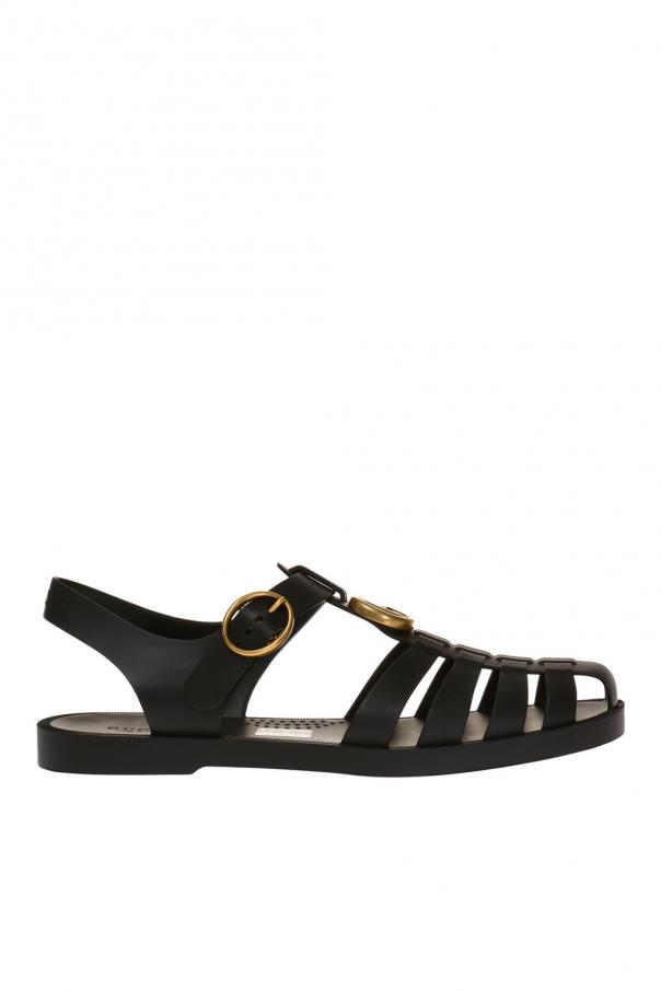 7e57d82750c0 Metal logo rubber sandals Gucci - Vitkac shop online