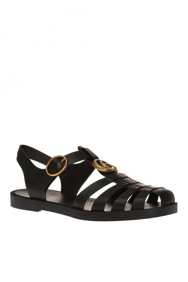 b3da914823af Metal logo rubber sandals Gucci - Vitkac shop online